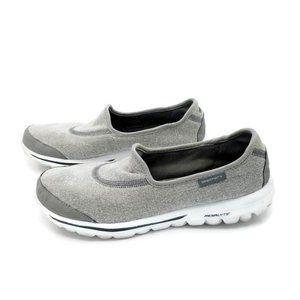 Skechers Go Walk Gray SlipOn Comfort Walking Shoes